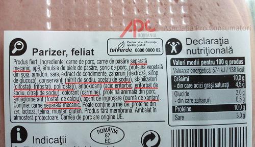 alta eticheta parizer
