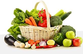 cos legume fructe