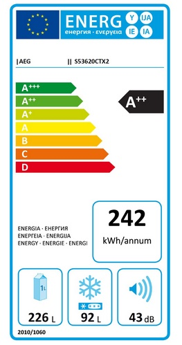 eticheta consum energie aeg