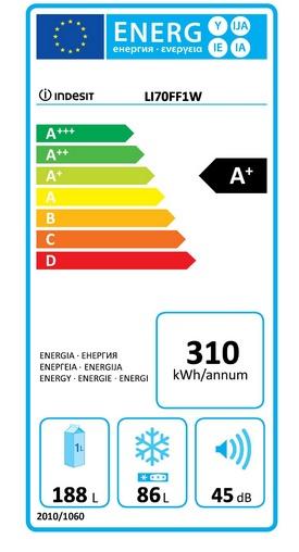 eticheta indesit energie consum frigider