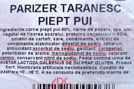 eticheta parizer taranesc
